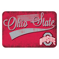 Ohio State Buckeyes NCAA Kitchen Rug (Swoosh Series) (20x30)