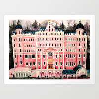 Grand Budapest Hotel Art Print by Alison Dillon Art