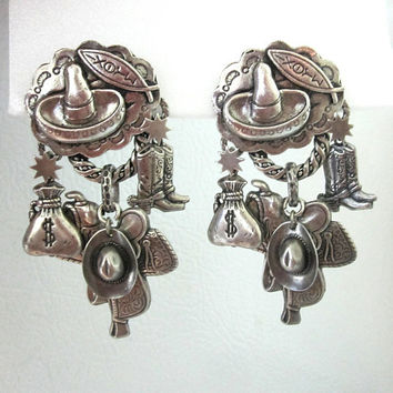 Zoe Coste Earrings French Couture Western Outlaw Jewelry Designer Paris