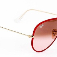 New Ray Ban Aviator Arista Full Color Pink Sunglasses RB3025JM 001/X3 58mm