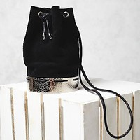 Free People Womens Suede Bucket Bag