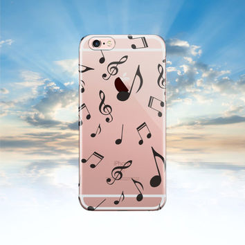 iPhone 6 case Clear iPhone 6S case MUSIC NOTE Samsung galaxy S6 transparent Samsung galaxy S5 case Note 5 case iphone 5S case LG G4 case