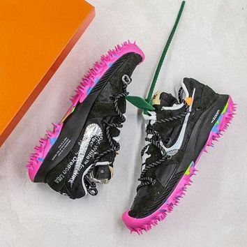 "OFF WHITE x Nike Zoom Terra Kiger 5 ""Black/Peach"" Sport Shoes"