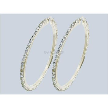 Australian Crystals 18k of Gold Plated Hoops