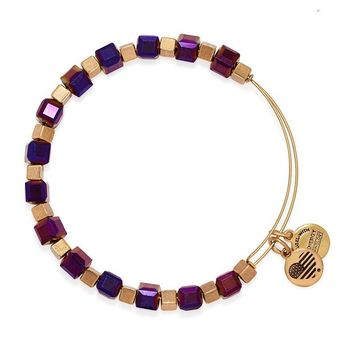Alex and Ani Mulberry Trailblazer Beaded Bangle - Rafaelian Gold Fi...