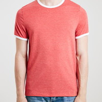 Red Slim Fit Ringer T-Shirt