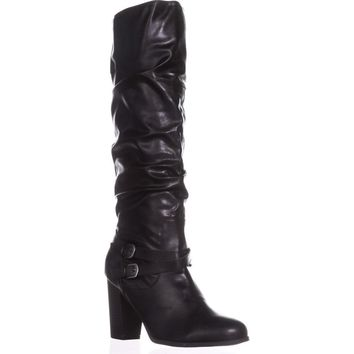 SC35 Sophiie Knee High Slouch Boots, Black, 5 US