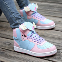 Harajuku cute love wings sneaker shoes