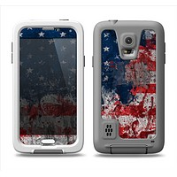 The Grungy American Flag Samsung Galaxy S5 LifeProof Fre Case Skin Set