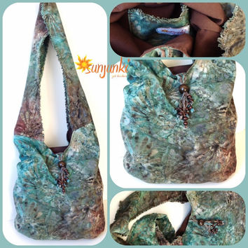 Hippy Satchel, Hobo Bag, School Bag, Shoulder Bag, Purse, Beach Bag, Diaper Bag, Hippie, Gypsy, Tote, Tie Dye