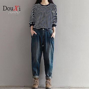 New Baggy Jeans For Women Hot Sale Vintage Distressed Regular Ripped Jeans for Girls Denim Harem Pants Woman Jeans Plus Size 3XL