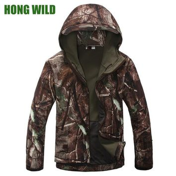 Military Tactical fleece Jacket Lurker Shark Skin Soft Shell V4 Men Waterproof Coat Camouflage Camo Hunt Army Clothes Windbreak