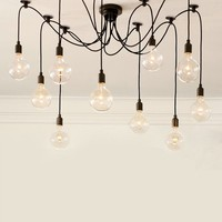 Edison Chandelier Ceiling Light 10 Lights bulbs Pendant Lamp Lighting Fixture