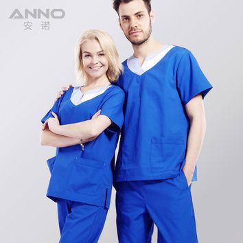 medical scrubs set Isolation Medical clothing for unisex  surgical clothing