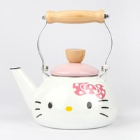 Hello Kitty Enamel Kettle: White