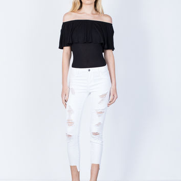 White Out Cropped Jeans