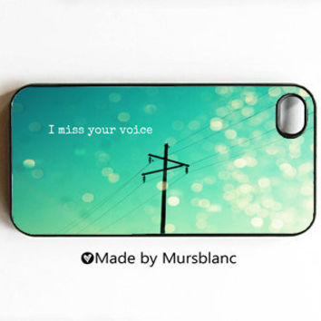 I miss you iPhone 4 case iPhone 4s Cover iPhone by HipsterCases