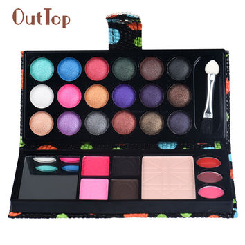 OutTop 26Colors Eye Shadow Makeup Palette Cosmetic Eyeshadow Blush Lip Gloss Powder
