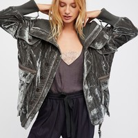 Free People Field Bomber Jacket