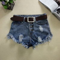 Denim Short Jeans Shorts Womens Shorts Casual High Waisted Fashion Shorts for Summer