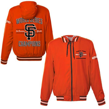 San Francisco Giants 2014 World Series Champions Nylon Commemorative Jacket - Orange