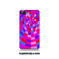 Pink Spiral Pattern cell phone case, Iphone 4/4s case, original design