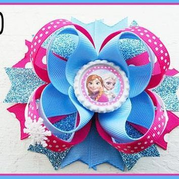 CHARACTER BOTTLE CAP HAIR BOWS - #30