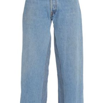Frayed mid-rise wide-leg jeans | RE/DONE by LEVI'S | Sale up to 70% off | THE OUTNET