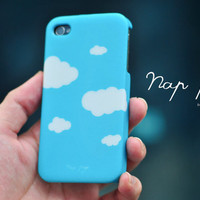Apple iphone case for iphone iphone 4 iphone 4s iphone 3Gs : Cute white cloud with blue sky