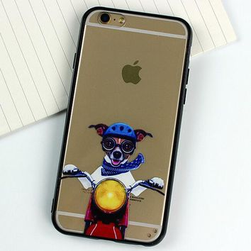Motorcycle Dog Case for iPhone 5s 6 6s Case iPhone 6 6s Plus Gift-77-170928
