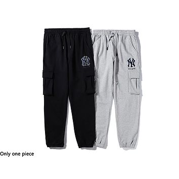 NY hot selling casual men and women embroidery LOGO fashion cargo pants