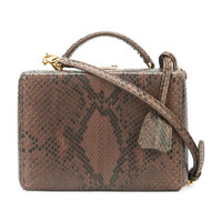 Mark Cross Small 'Grace' Box Bag - Brown Detachable Strap Bag
