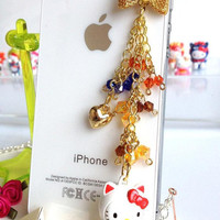 iphone dust plug Hello Kitty strap collectable figures from Japan phone charm phone plug