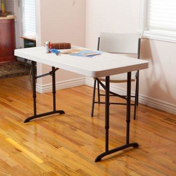 4' Strong Sturdy Portable Banquet, Conference,Utility Indoor or Outdoor Folding Table