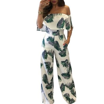 Womens Flower Tea Crop Top Pants Set