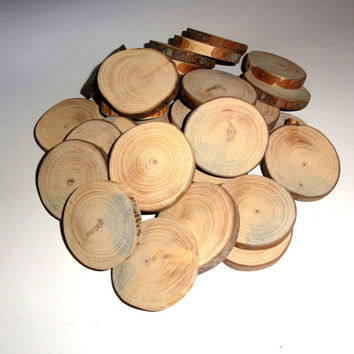Wood slices 12 medium. Arts, Crafts & Crafting › Wood crafts › Unfinished Wood. Solid wooden slices for pendants, key chains, fridge magnets