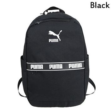 PUMA 2019 new men and women models casual outdoor leisure travel backpack computer bag backpack Black