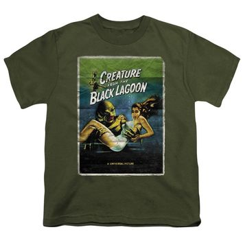 Creature from the Black Lagoon Kids T-Shirt Movie Poster Military Tee