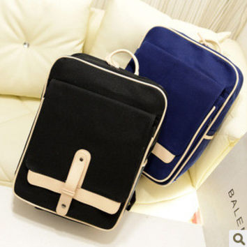 Stylish Comfort Back To School On Sale Hot Deal College Cross Rack Casual Vintage Canvas Korean England Style Bags Backpack [6582162503]