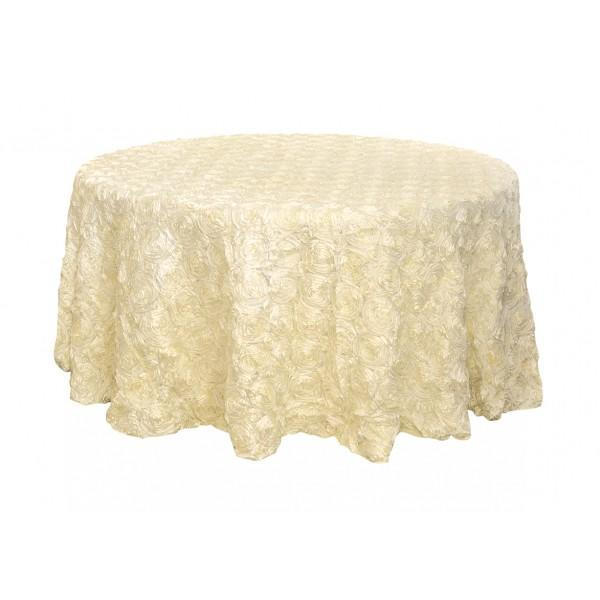 120 ivory ribbon rosette tablecloth from wholesaleweddingch for Where can i buy table linens