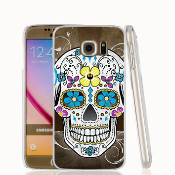 Mexican Skeleton Sugar Skull cell phone case cover for Samsung Galaxy S7 edge PLUS S6 S5 S4 S3 MINI
