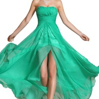 Carlyna New Eye-catching Strapless Evening Dress Party Dress (C00134504)