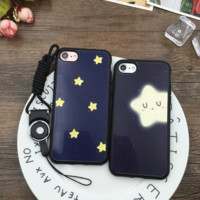 Cute star Phone Case Cover for Apple iPhone 7 7 Plus 5S 5 SE 6 6S 6 Plus 6S Plus + Nice gift box! LJ161101-007