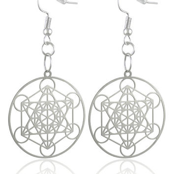 Metatron Silver Plated Earrings  'Buy One and Get Another Design Free'  ER-02-S