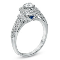 Vera Wang LOVE Collection 3/4 CT. T.W. Diamond Frame Engagement Ring in 14K White Gold