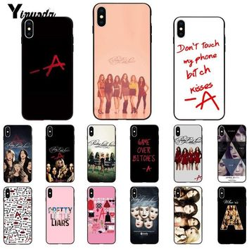 Yinuoda Pretty Little Liars Lucy Hale Pattern TPU Soft Phone Cell Phone Case for iPhone 5 5Sx 6 7 7plus 8 8Plus X XS MAX XR