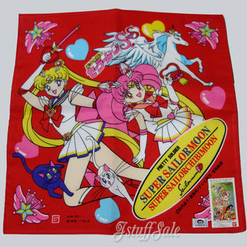 90's Anime -  Sailor Moon Chibi Moon Handkerchief