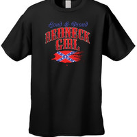 Rebel Flag T-Shirt Loud & Proud Redneck Girl
