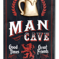 Personalized Mancave Vintage Style Sign