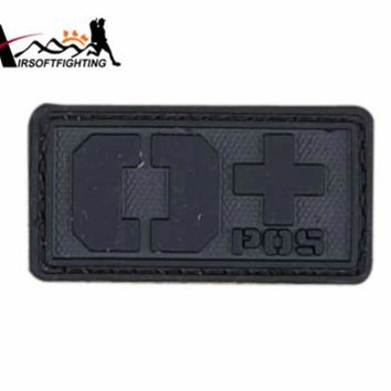 Rescue Blood Type PVC 3D Rubber OPOS Blood Type Patch Military Paramedic Patch Badge Tactical Vest Helmet Bag Patches